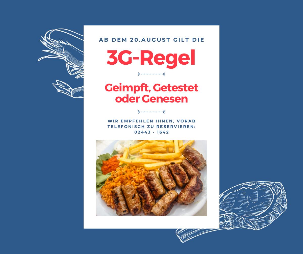 3G Regel fuer Restaurantbesuch